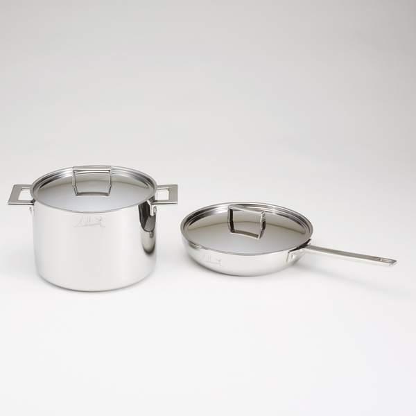 MEPRA(メプラ) アッティーヴァ フライパン(フタ付き)&深型鍋セット