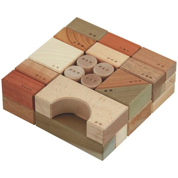 Oak Village / 寄木の積木ギフトセットL