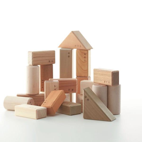 Oak Village / 寄木の積木ギフトセットM