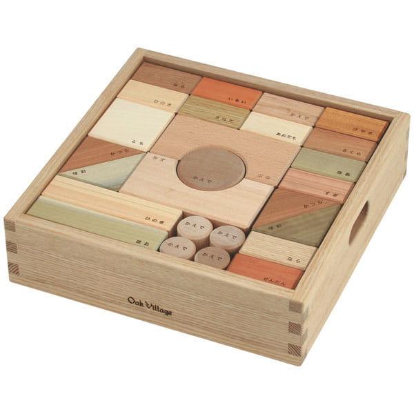 Oak Village / 寄木の積木ギフトセットLL 木箱