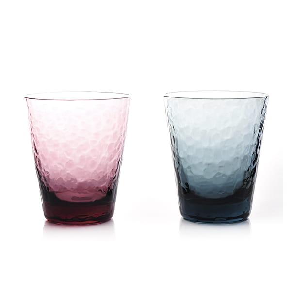Sghr スガハラ / ディンプルグラス ワインレッド/インディゴ