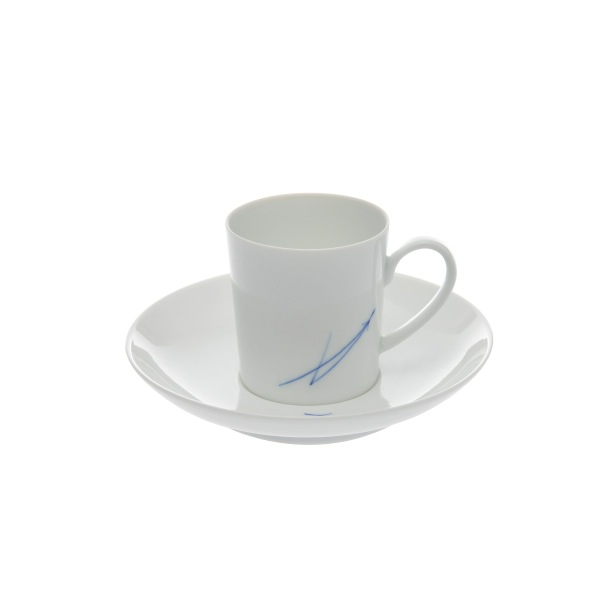 永峰製磁 / 波佐見焼 デミタスカップ(青)