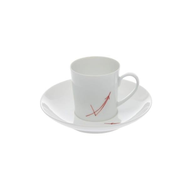 永峰製磁 / 波佐見焼 デミタスカップ(赤)