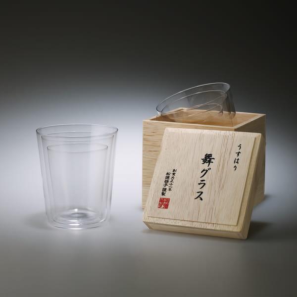 松徳硝子 / うすはり 舞グラス[木箱入り]