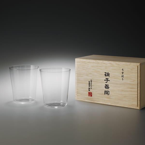 松徳硝子 / うすはり オールドMペアセット[木箱入り]