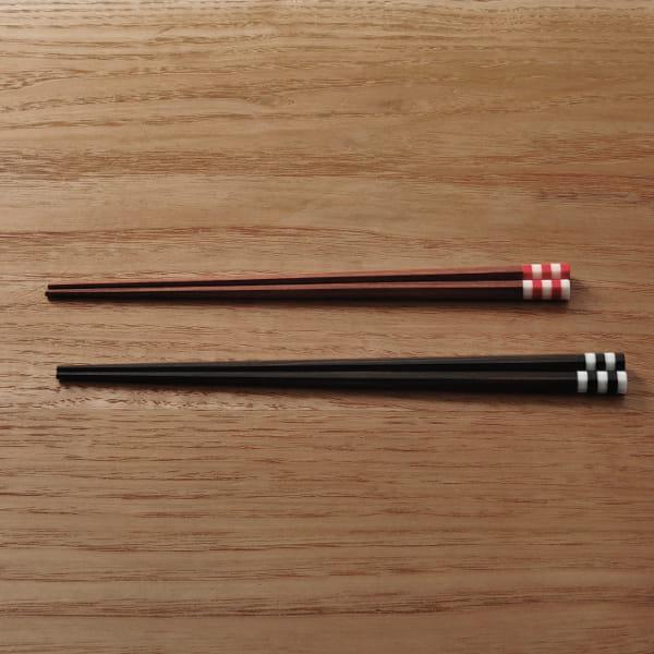 MARUNAO / 森の調べ 夫婦箸縞セット(黒檀・紫檀)