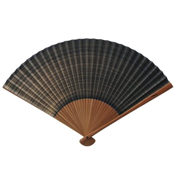 伊場仙 / 紳士扇子 しけびき柄(紺) 収納袋・ケース付