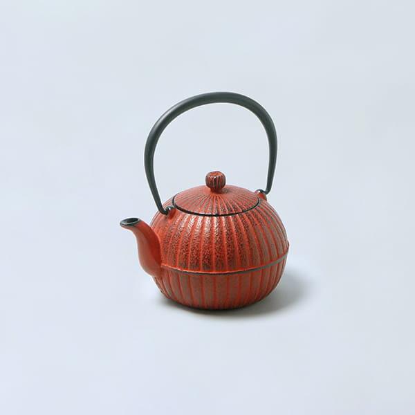 南部鉄瓶 柚子菊(赤)