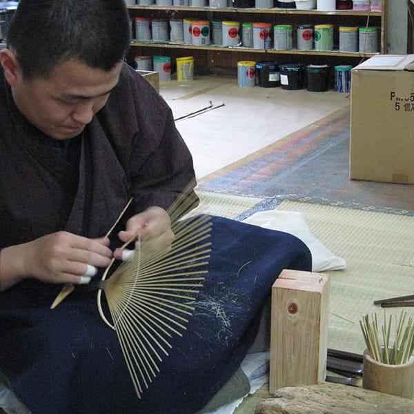 美濃和紙 水うちわ 小判型(蛍)