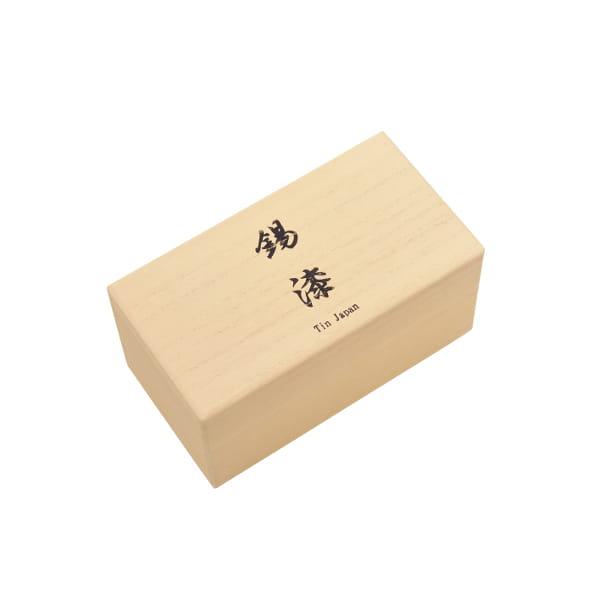 大阪錫器 / おしどり黒・朱 桐箱入り