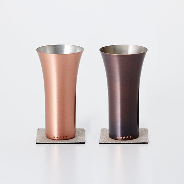 WDH 限定純銅製タンブラー(ブラウン・マット)2個セット