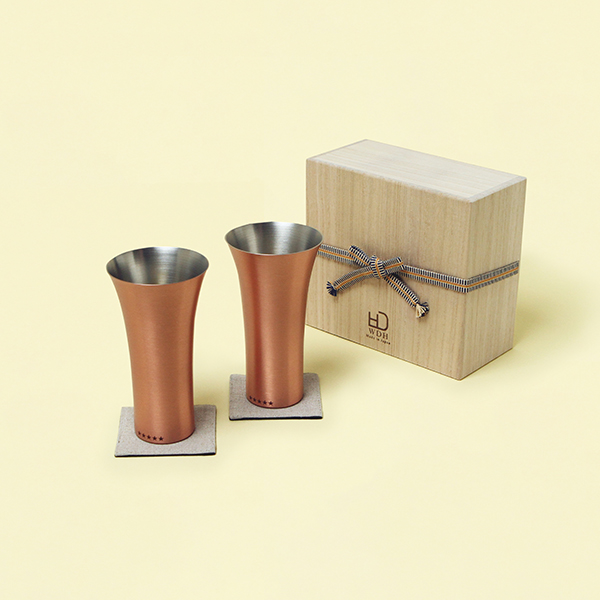WDH / 純銅製タンブラー2個セット マット