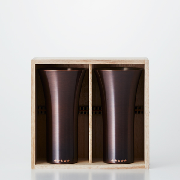 WDH / 純銅製タンブラー2個セット ブラウン