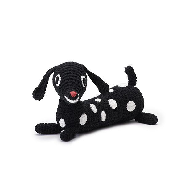 リトルファント / メロディソフトトイ Puppy-Black/white