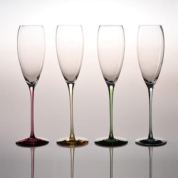 Sghr スガハラ / リジカーレ シャンパングラス ワインレッド