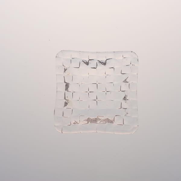 Sghr スガハラ / グリットプレート深皿 9cm クリア