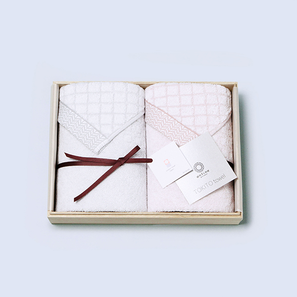 antina / TOKITOタオル 木箱入りタオルセット(フェイス2)