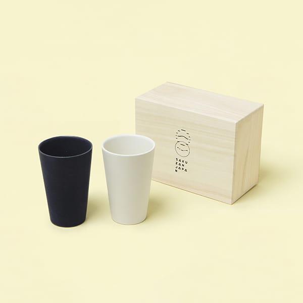 作山窯 / Sara Free cup カップ ペア 木箱入り(Cream、Navy)