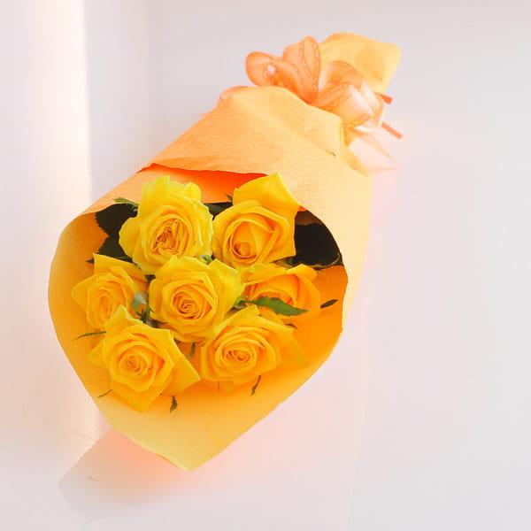 バラの花束(7本)