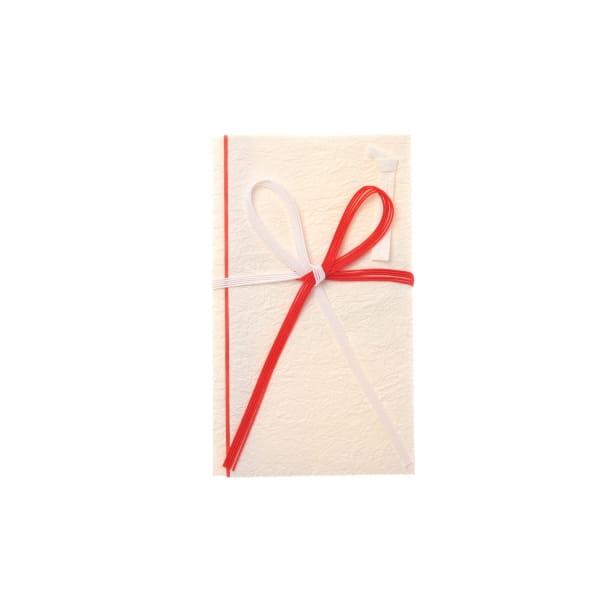 こち金封 揉紙 紅白5本花結 祝