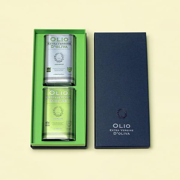 エキストラバージンオリーブオイルペアセット(グリーン・フルーティ 各250ml BOX付)