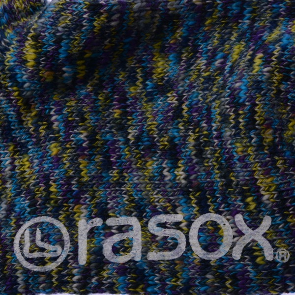 rasox×antina / L字型靴下23~25cm(ブルー) [ギフトBOX入り]