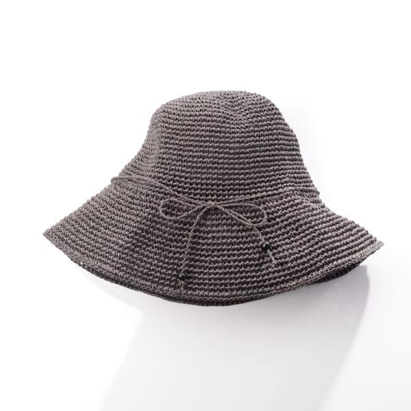 SASAWASHI / 手編み帽子(ブラウン)