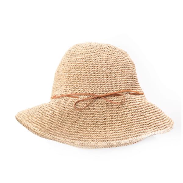 SASAWASHI / 手編み帽子(キャメル)