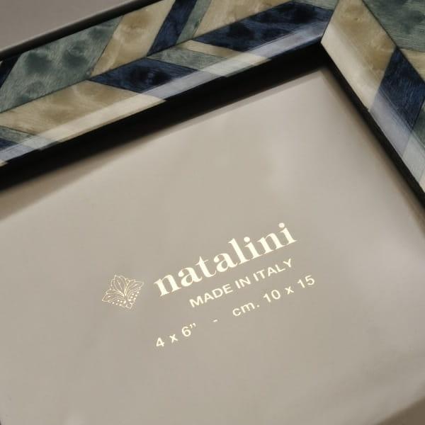 natalini / 象眼細工 フォトフレームS (azzurro)