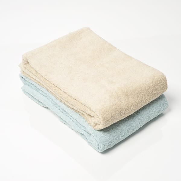 今治タオル COLOR BASICバスタオルセット(ベージュ/ライトブルー)