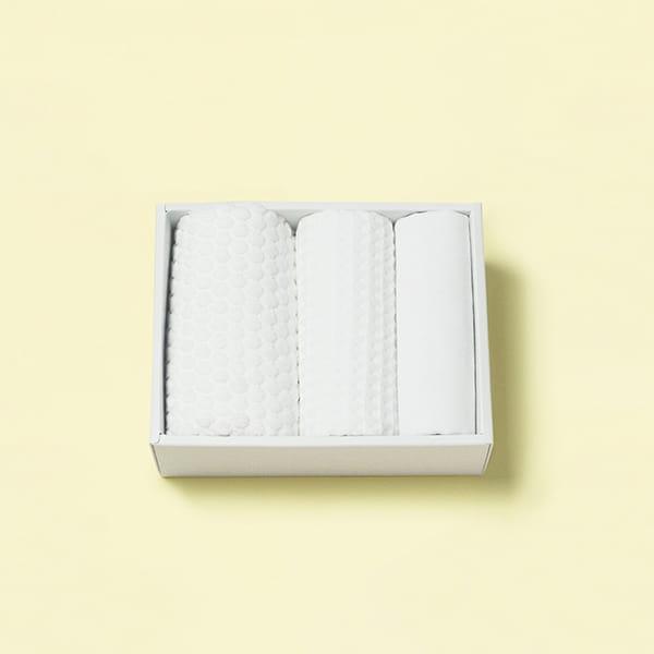 今治タオル 白いタオル3枚セット(フェイス3)