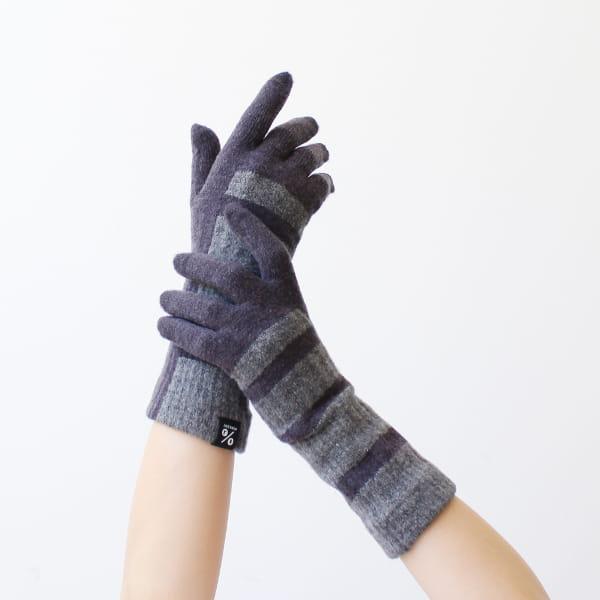 % / 手袋(Navy60%Gray40%)
