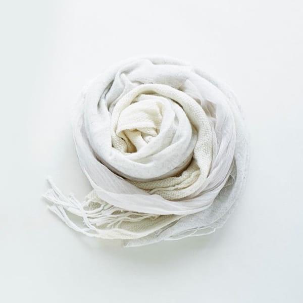 coova / ふたまたストール(ホワイト)