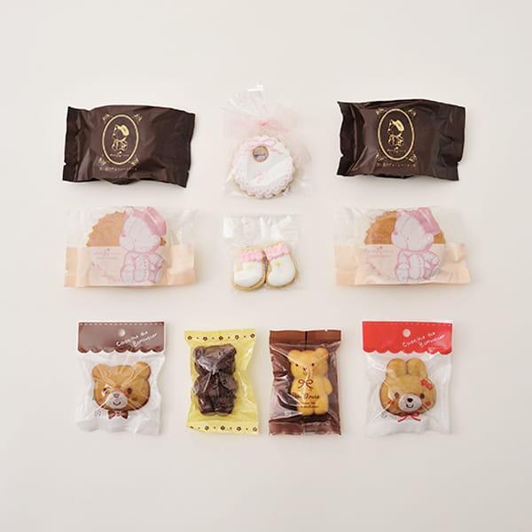 アニバーサリー / Hello Baby B(ピンク)【名入クッキー入】【焼き菓子詰合せ】