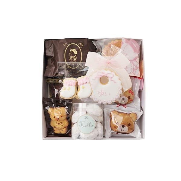 アニバーサリー / Hello Baby C(ピンク)【名入クッキー入】【焼き菓子詰合せ】