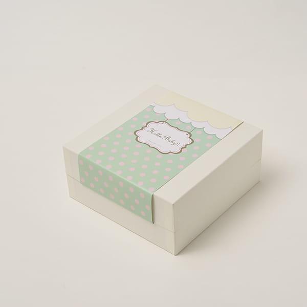 アニバーサリー / Hello Baby E(ブルー)【名入壁掛け付】【焼き菓子詰合せ】