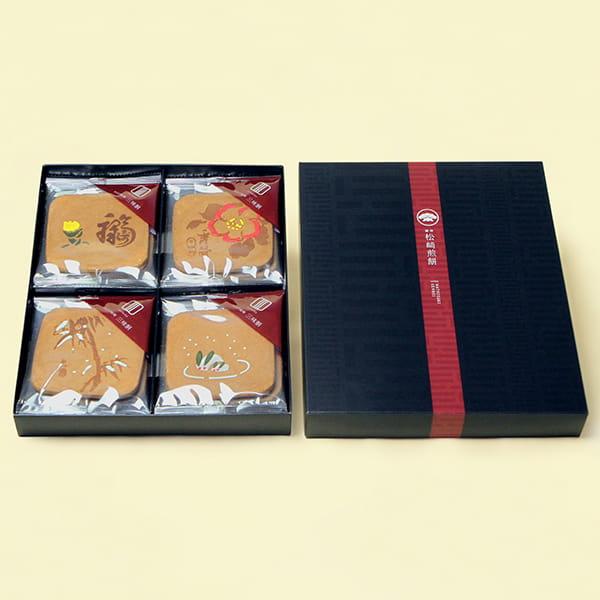 松﨑煎餅 / 江戸瓦 暦(春絵柄)8枚