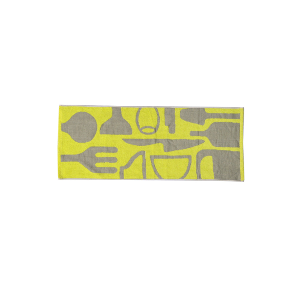 PYYLE / キッチン タオルセット(イエロー/ライトグレー)(バス1/フェイス1)
