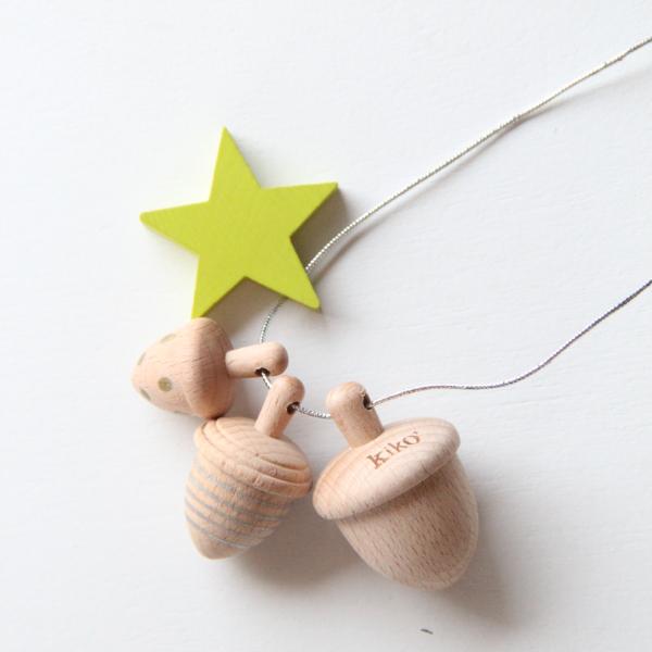 LA couche Pastel / Kiko+の木のおもちゃ付きオーガニックダイパーケーキ / イエロー