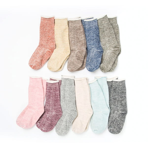 ROTOTO / DAUBLE FACE SOCKS OATMEAL S(23-25)