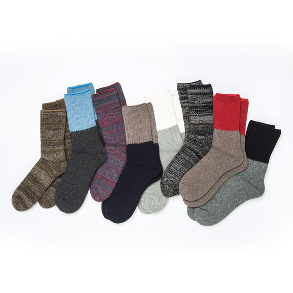 ROTOTO / TEASEL SOCKS Outlast L.BLUE/CHARCOAL S(23-25)