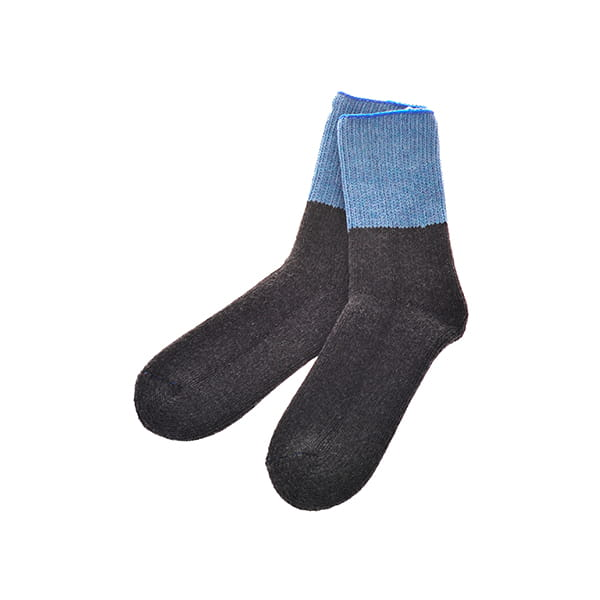 ROTOTO / TEASEL SOCKS Outlast L.BLUE/CHARCOAL M(25-27)