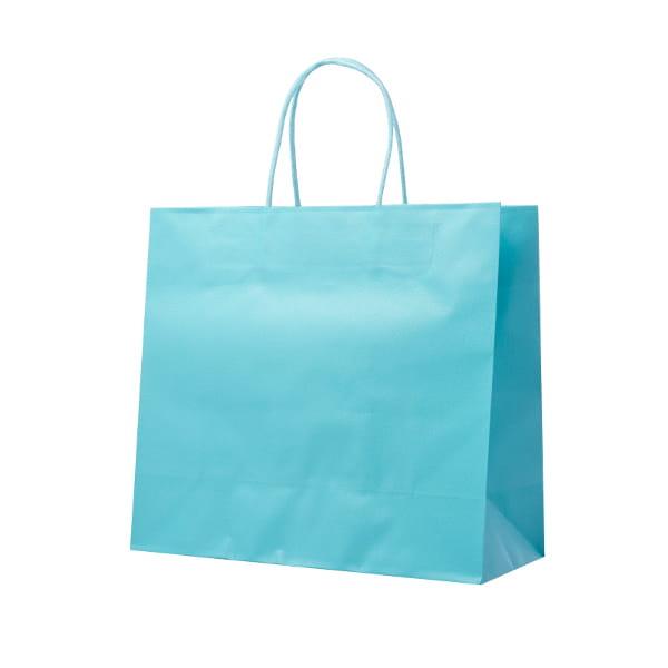 レザートーン ショッピングバッグ アクアブルー(幅30×マチ12×高さ27cm)