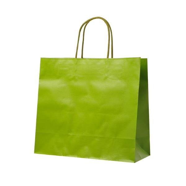レザートーン ショッピングバッグ グラスグリーン(幅30×マチ12×高さ27cm)