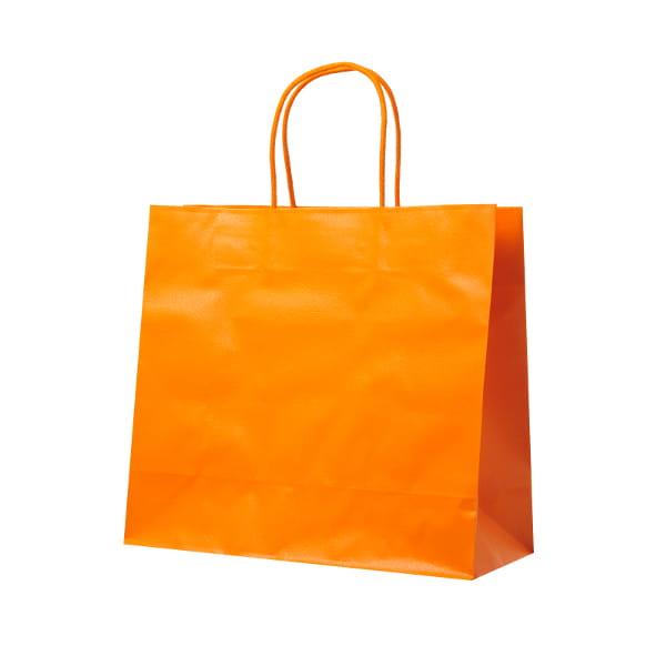 レザートーン ショッピングバッグ マンダリン(幅30×マチ12×高さ27cm)