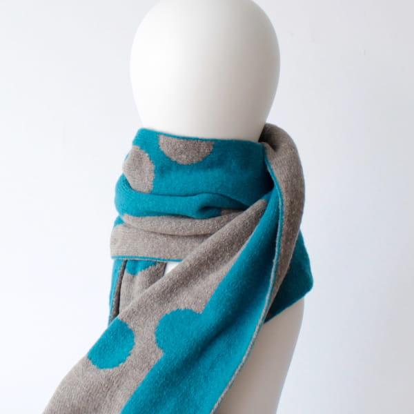 % / スカーフ (Blue50%Gray50%)
