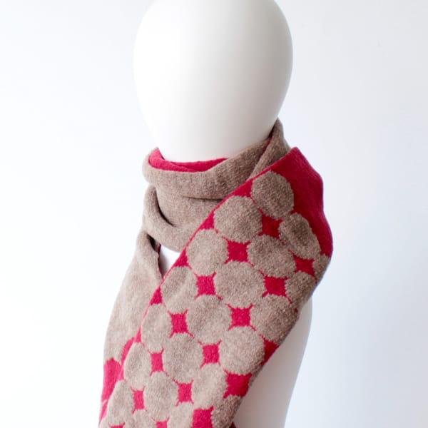 % / スカーフ (Red50%Broun50%)