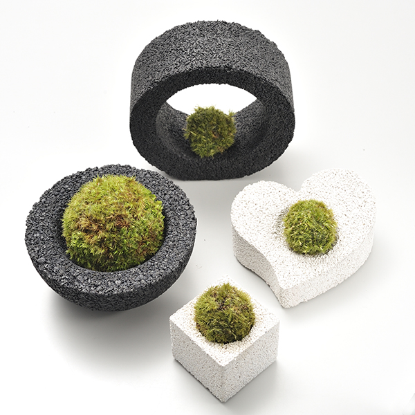 MIDORIKA / コケポチ キューブ・ミニ白