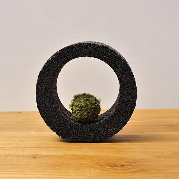MIDORIKA / コケポチ リングS黒