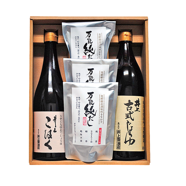 島根・井上醤油店 / 井上丸大豆醤油・万能純だし詰合せ